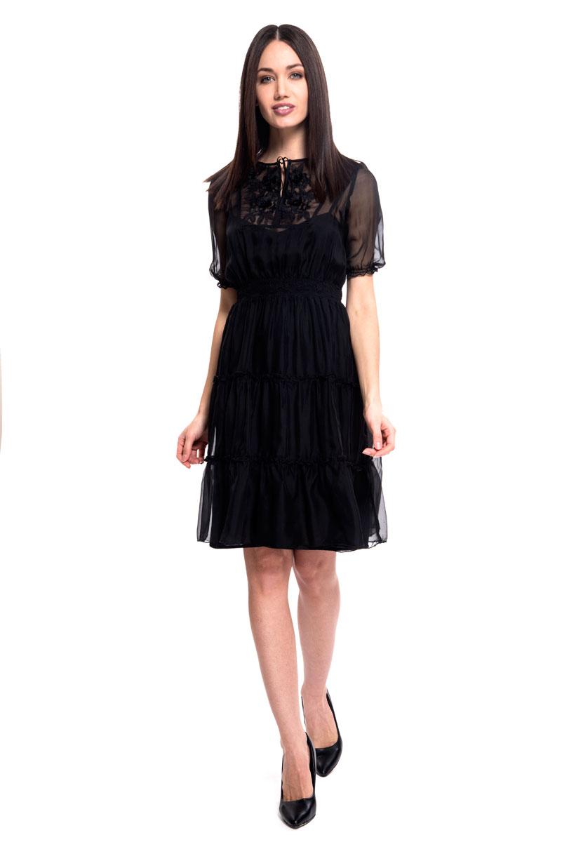 Платье Lusio, цвет: черный. SS18-020071. Размер  (42/44)