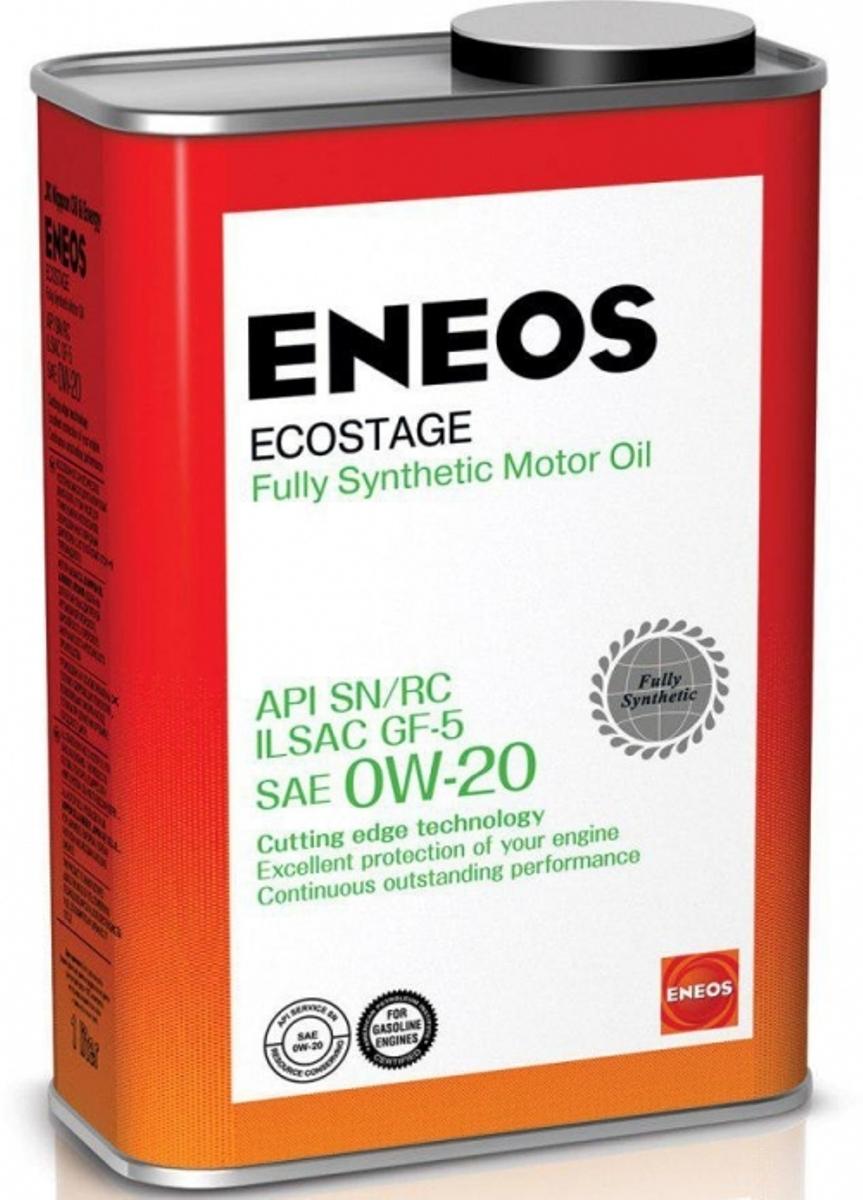 Масло моторное ENEOS Ecostage, синтетическое, 0W-20, 0,94 л8801252022015Eneos Ecostage Fully Synthetic Motor Oil SAE 0W-20 100% синтетическое масло для бензиновых двигателей нового поколения автомобилей американского, японского, корейского, европейского и российского производства, в том числе с турбонаддувом. Произведено на основе уникальных топливно-энергосберегающих технологий, позволяющих снизить расход топлива при движении в режиме городского цикла. - Содержит эксклюзивный пакет присадок, производства JX Nippon Oil Energy, Япония. - Обладает оптимальными температурными характеристиками, имеет высокие антиокислительные и энергосберегающие свойства. 08880-10503, 4562374690639, XA 20567, 08217-99977, 08880-09203.API SN/RC ILSAC GF-5