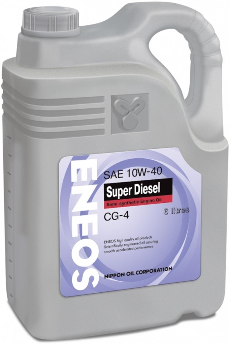 Масло моторное ENEOS Super Diesel CG-4, полусинтетическое, 10W-40, 6 лoil1329ENEOS Super Touring 100% Synthetic синтетическое масло для высокооборотных четырехтактных дизельных двигателей японского, европейского и российского производства, в том числе с турбонаддувом