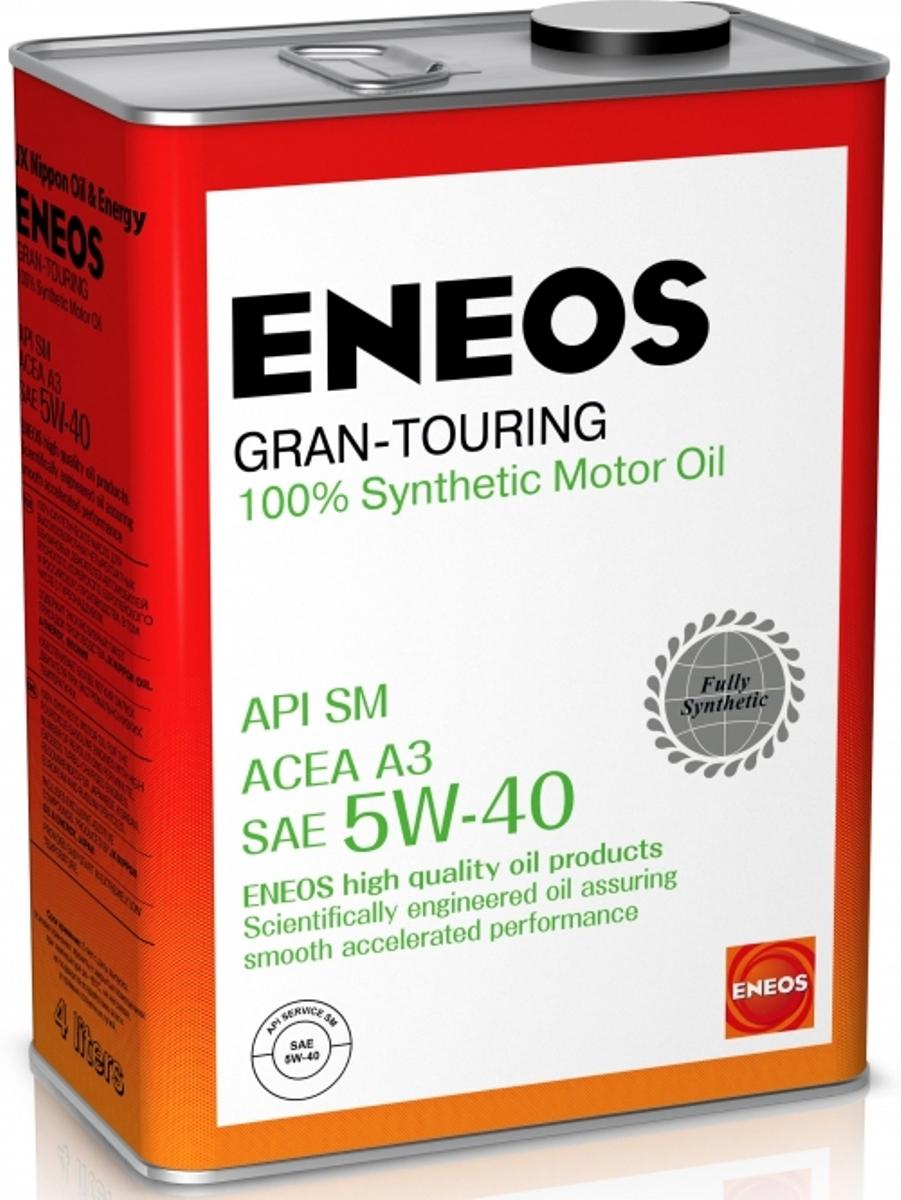 Масло моторное ENEOS Gran Touring, синтетическое, 5W-40, 4 лoil4066Высококачественное 100% синтетическое моторное масло для высоконагруженных многоклапанных бензиновых двигателей, в том числе оборудованных турбонаддувом и интеркулером