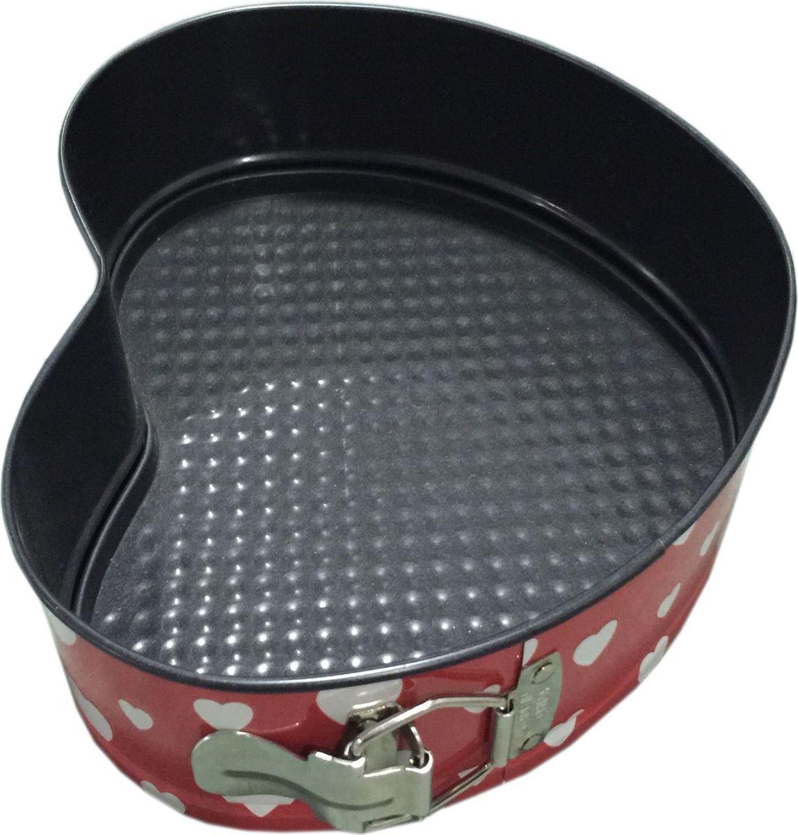 Форма для выпечки Irit, цвет: черный, 23,5 х 20,5 х 6,8 смIRH-925Форма для выпечки в виде сердца изготовлена из листового железа. Стойкое к истиранию антипригарное покрытие. Подходит для использования в газовых и электрических духовках. Можно мыть в посудомоечной машине.