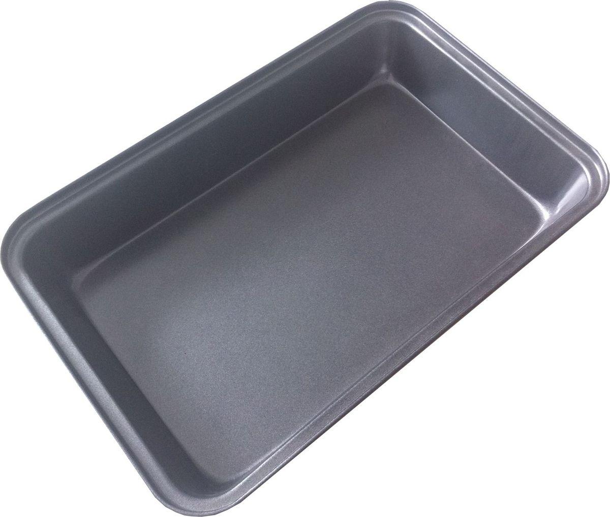 Форма для выпечки Irit, прямоугольная, цвет: черный, 34 х 24 х 6 смIRH-928Форма для выпечки Irit изготовлена из листового железа. Форма имеет стойкое к истиранию антипригарное покрытие GOLDFLON. Подходит для использования в газовых и электрических духовках. Можно мыть в посудомоечной машине.