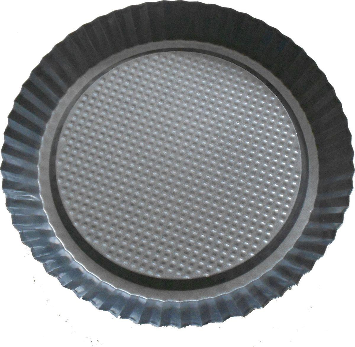 Форма для выпечки Irit, круглая, цвет: черный, 28 х 28 х 3,5 смIRH-936Форма для выпечки Irit изготовлена из листового железа. Форма имеет стойкое к истиранию антипригарное покрытие GOLDFLON. Подходит для использования в газовых и электрических духовках. Можно мыть в посудомоечной машине.
