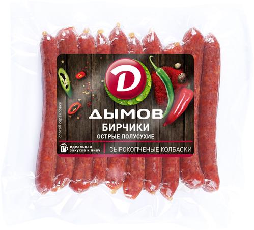 Дымов Бирчики Острые, полусухие, 90 г155