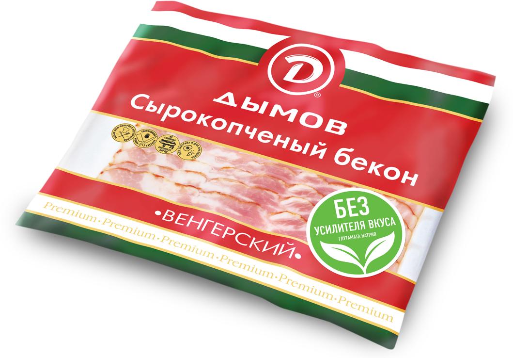 Дымов Бекон Венгерский сырокопченый, нарезка, 500 г3226