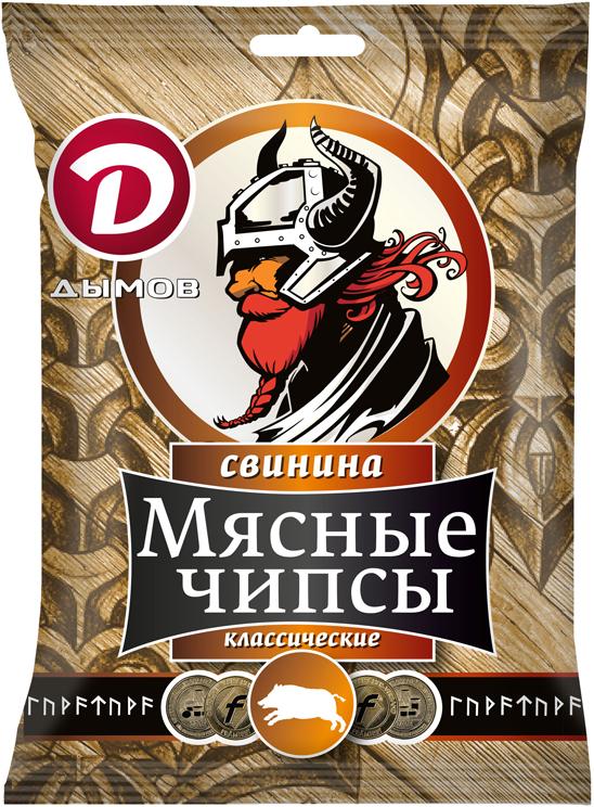 Дымов Чипсы из Свинины, классические сыровяленые, 25 г4178