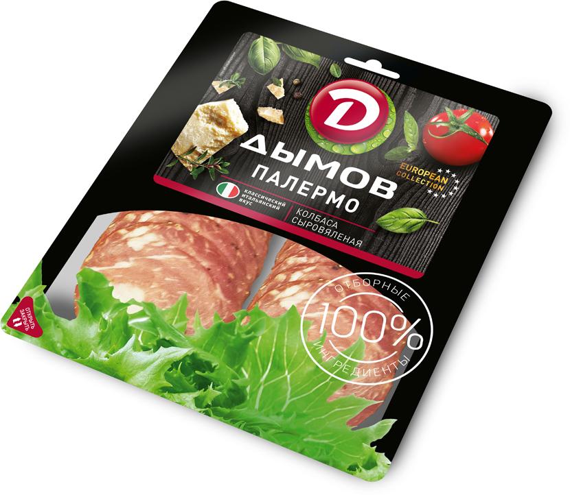 Дымов Колбаса Палермо сыровяленая, нарезка, 90 г