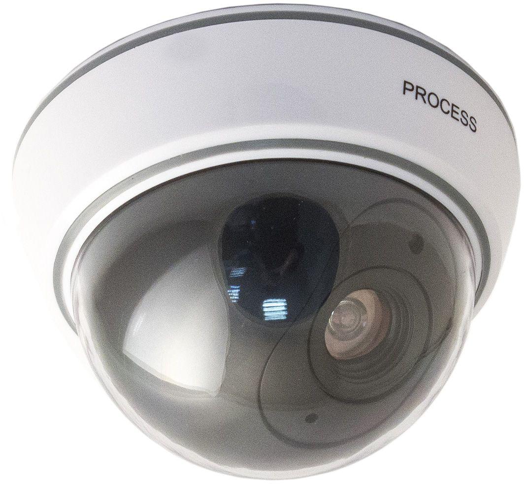 Муляж видеокамеры Эврика, 12,5 х 12,5 х 8,5 см98491Муляж видеокамеры Эврика, изготовленный из пластика, практически полностью имитирует камеру видеонаблюдения. Внутри камеры вмонтирован мигающий светодиод для обеспечения наибольшего сходства с настоящей купольной камерой. В комплекте предусмотрены крепежные элементы для крепления камеры к потолку.Изделие работает от 2 батареек типа АА (в комплект не входят).