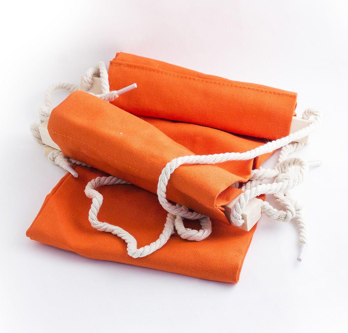 Гамак для ног Эврика, цвет: оранжевый, 62 х 17 х 2 см