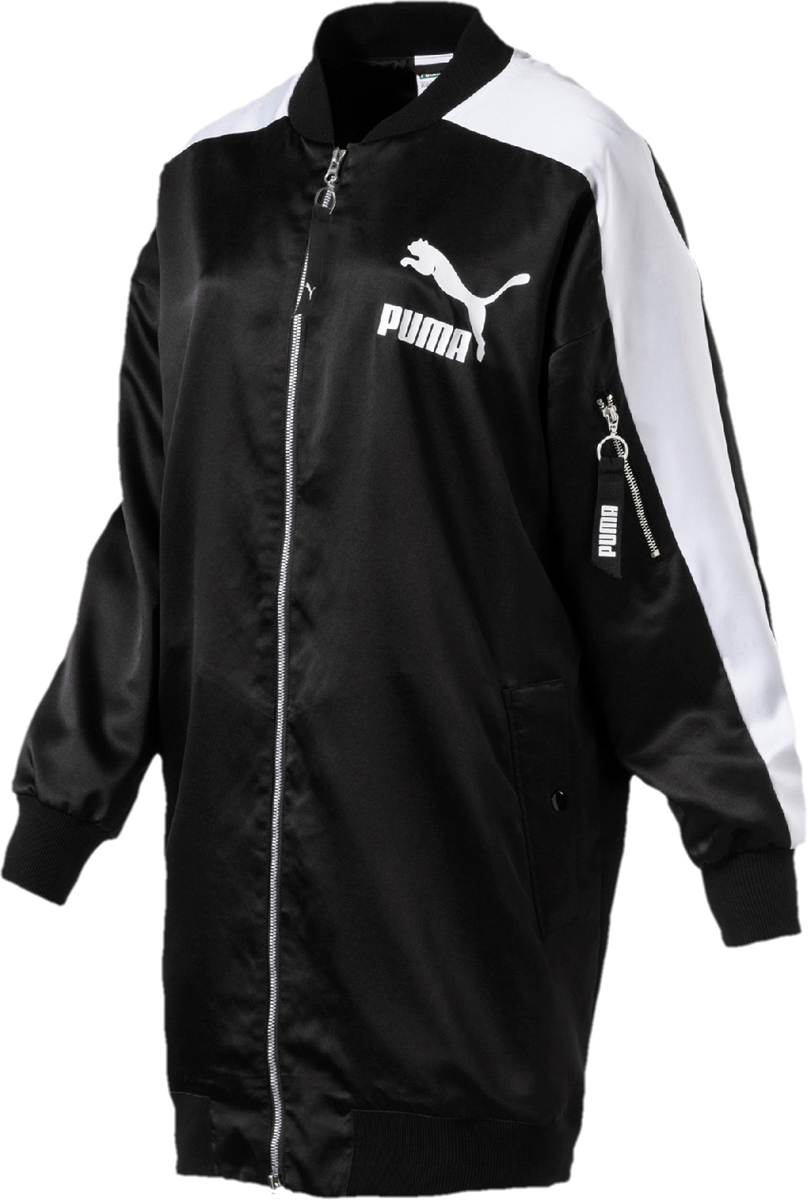 Бомбер женский Puma Archive T7 Bomber, цвет: черный. 57497801. Размер XL (48/50)