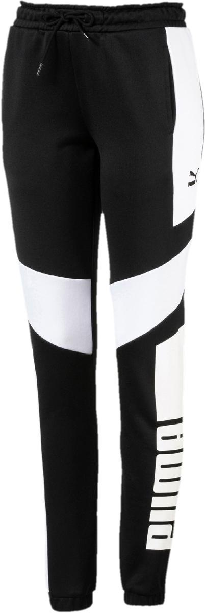 Брюки спортивные женские Puma Archive T7 Pant, цвет: черный. 57498601. Размер XL (48/50)