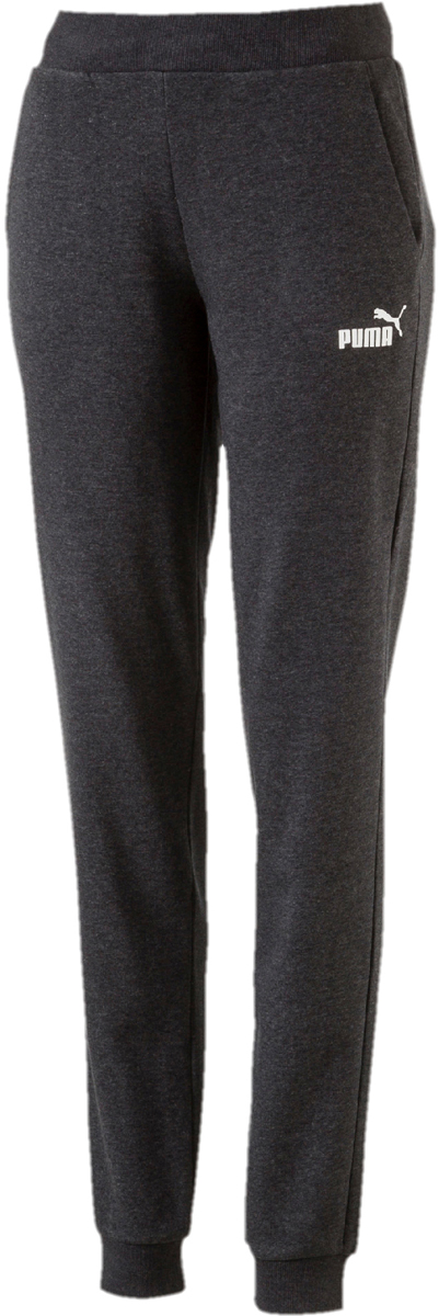 Брюки спортивные женские Puma ESS No.1 Sweat Pants TR, цвет: темно-серый. 83842617. Размер M (44/46)