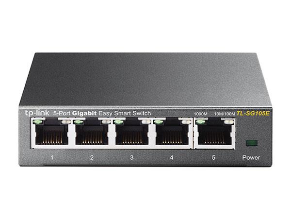 TP-LINK EasySmart TL-SG105E коммутатор (5 портов)TL-SG105EБезвентиляторная система охлажденияQoS (приоритезация данных)Зеркалирование портаПоддержка да 32 VLAN одновременно (из 4000 идентификаторов VLAN)Централизованное управление с помощью утилиты настройки Easy Smart