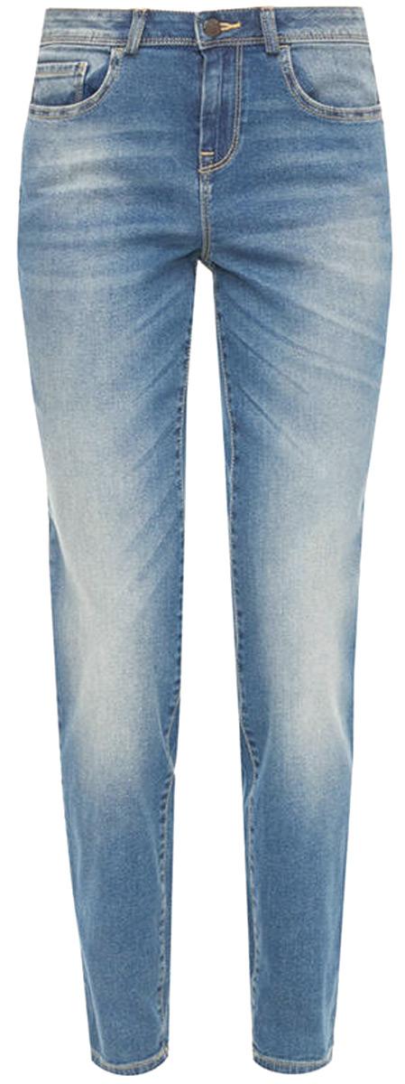 Брюки женские United Colors of Benetton, цвет: синий. 4AL2573G4_902. Размер 32 (48)4AL2573G4_902Джинсы-слим от United Colors of Benetton выполнены из эластичного хлопкового денима. Модель в поясе застегивается на пуговицу и имеет ширинку на молнии и шлевки для ремня. Джинсы имеют классический пятикарманный крой.
