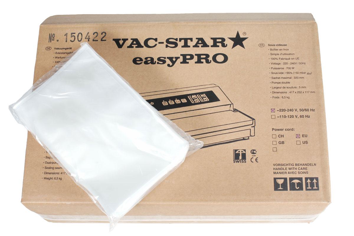 Vac-Star 30x40 пакеты для вакуумного упаковщика, 50 шт упаковка фильтр пакеты чайные в екатеринбурге
