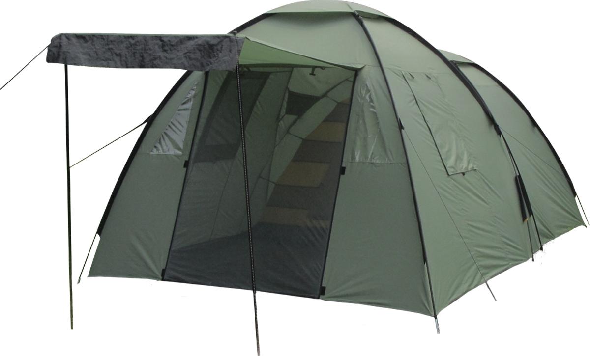 Палатка Сплав Atlantic 4, цвет: зеленый5051600Классическая кемпинговая палатка с большим отдельным тамбуромКоличество мест: 4 Габариты и вес: Размеры внешней палатки, тента (ДхШхВ): 440х250х185/155 см Размеры спального места (ДхШхВ): 235х240х140 см Размеры в упакованном виде (ДхШхВ): 70х34х18 см Полный вес: 11,23 кг Минимальный вес (без чехла и колышков): 9,55 кг Материалы: Внешний тент: Polyester 75D/190T PU 5000 мм Внутренняя палатка: Polyester 68D/210T W/R Дно: PE 140G/SM Дуги: F/G POLE O11 мм+O9,5 мм Фурнитура: YKK Высота позволяет перемещаться внутри палатки и тамбура в полный рост Вход в палатку продублирован противомоскитной сеткой На задней поверхности спального отделения большое функциональное вентиляционное окно В тамбуре два окна с внутренними шторками и два вентиляционных окна Отдельный пол для тамбура Дополнительные карманы-органайзеры внутри тамбура Многочисленные штормовые оттяжки для надежного натяжения в ветреную погоду Швы тента и дна проклеены