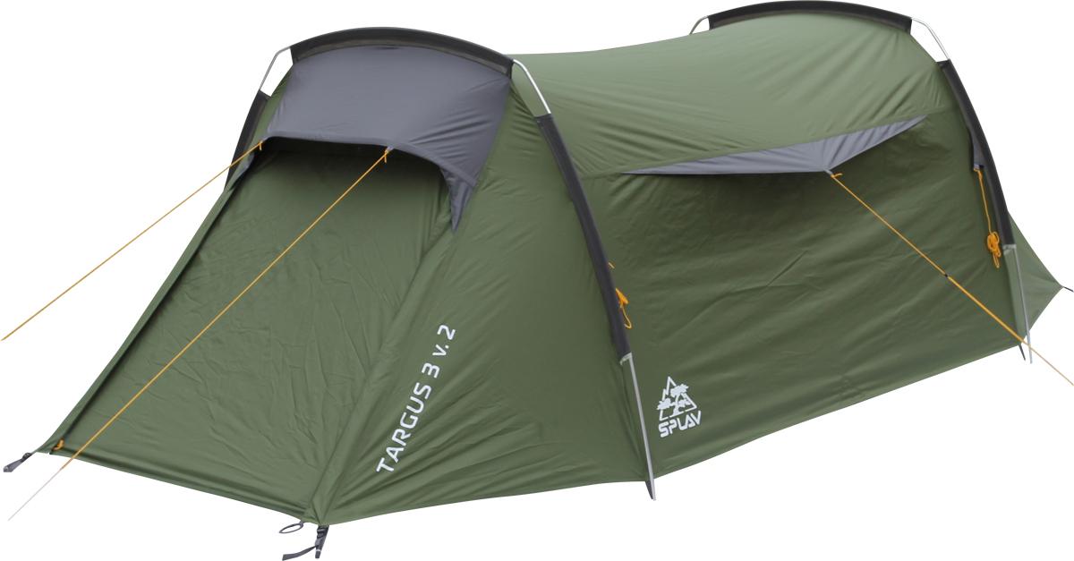 Палатка Сплав Targus 3 v.25055400Комфортная трехместная туристическая палатка на внешних дугах Конструкция «полубочка» на двух внешних дугах с угловыми элементами. За счет этого, внутренний объем получается максимально комфортным Два входа, два тамбура Вход внутренней палатки продублирован противомоскитной сеткой Благодаря большим вентиляционным отверстиям над входами, палатка обладает хорошей проточной вентиляцией (в новой версии козырьки не обязательно растягивать) Конструкция на «внешних дугах» позволит легко и быстро установить палатку даже в неблагоприятных погодных условиях Штормовые оттяжки Веревки оттяжек имеют вплетенную светоотражающую нить Швы тента и дна проклеены Сезонность: 3 Количество мест: 3 Количество дуг: 2 Габариты и вес: Размеры внешней палатки, тента (ДхШхВ): 390х185х116 см Размеры спального места (ДхШхВ): 200х165х106 см Размеры в упакованном виде (ДхШхВ): 50х20х20 см Полный вес: 3,90 кг Минимальный вес (без чехла и колышков): 3,63 кг Материалы: Внешний тент: Polyester 75D/190T PU 5000 mm Внутренняя палатка: Polyester 210T R/S W/R Дно: Polyester 190T PU 7000 мм W/R Дуги: Алюминиевый сплав 7001 T6 O9,5 мм Фурнитура: Duraflex