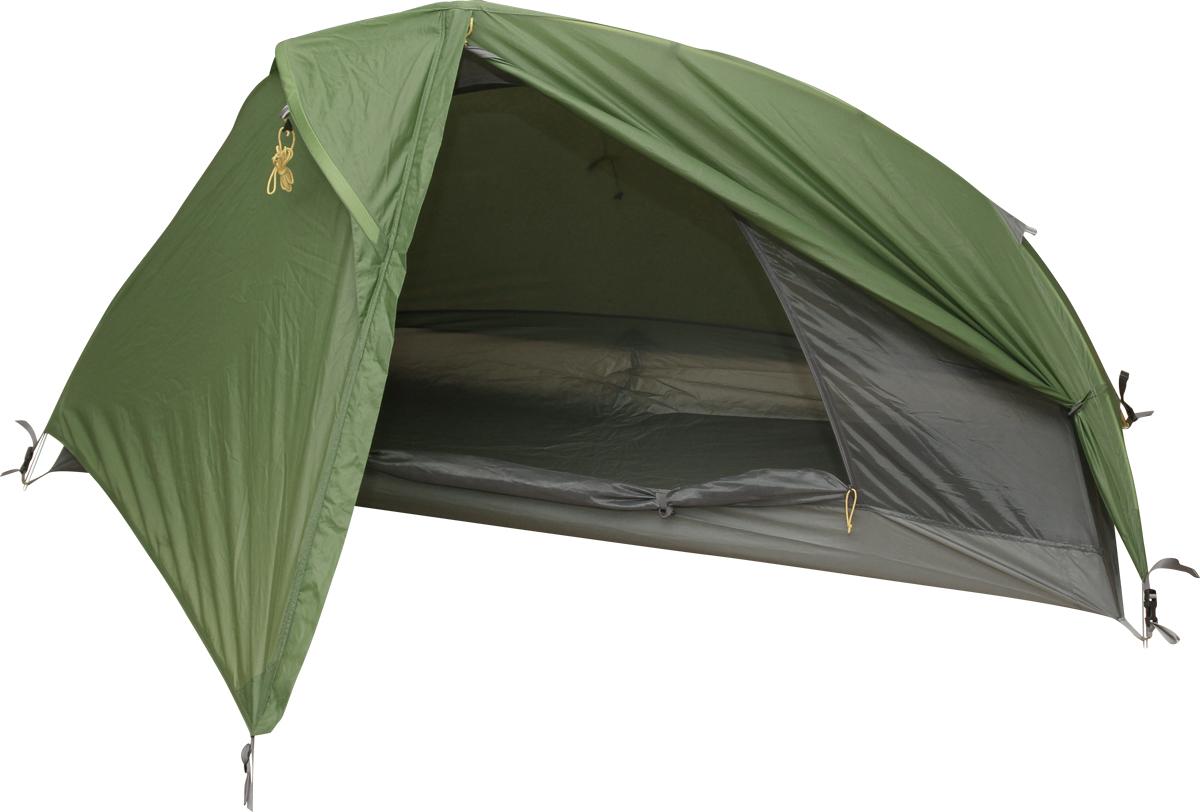 Палатка Сплав Shelter one, цвет: зеленый5055550Универсальная одноместная палатка Сплав Shelter one. Простота в установке. Благодаря несимметричной конструкции и дугам с изогнутыми элементами палатка имеет не только комфортное спальное отделение, но и достаточно просторный тамбур. Тент и палатка устанавливаться последовательно. Вход внутренней палатки продублирован противомоскитной сеткой, козырек вентиляции над входом дополнительно служит защитой от дождя. Штормовые оттяжки, веревки оттяжек имеют вплетенную светоотражающую нить. Карманы для мелочей во внутренней палатке. Швы дна проклеены. Цветовая маркировка дуг. Сезонность: 3. Количество мест: 1. Количество дуг: 2. Габариты и вес: Размеры внешней палатки, тента (Д х Ш х В): 200 х 140 х 100 см. Размеры спального места (Д х Ш х В): 200 х 75 х 95 см. Глубина тамбура: 65 см. Полный вес: 1,5 кг. Минимальный вес: 1,35 кг. Материалы: Внешний тент: Nylon 40D R/S both silicone 3000 мм. Внутренняя палатка:mesh. Дно: Polyester 190T PU 7000 мм W/R. Дуги: Алюминиевый сплав 7001 T6 O 9,5 мм.