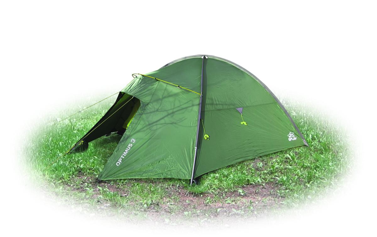 Палатка Сплав Optimus 3, 3-местная, цвет: зеленый5057850Сплав Optimus 3 -легкая трехместная туристическая палатка на внешних дугах. Тент и палатка могут устанавливаться одновременно. Возможна установка отдельно тента без внутренней палатки. Тамбур на отдельной консольной дуге. Вход и вентиляция внутренней палатки продублированы противомоскитной сеткой. Вентиляционное отверстие над внутренней палаткой можно открывать и закрывать, не выходя из палатки. Козырек вентиляции над входом дополнительно служит хорошей защитой от дождя. Усиленные штормовые оттяжки. Веревки оттяжек имеют вплетенную светоотражающую нить. Карманы для мелочей, подвесная полка. Швы тента и дна проклеены. Сезонность: 4. Количество мест: 3. Количество дуг: 3. Габариты и вес: Размеры внешней палатки, тента (Д х Ш х В): 275 х 180 х 125 см. Размеры спального места (Д х Ш х В): 210 х 170 х 115 см. Размеры в упакованном виде (Д х Ш х В): 50 х 20 х 20 см. Полный вес: 3,6 кг. Минимальный вес (без чехла и колышков): 3,3 кг. Материалы: Внешний тент: Polyester 75D/190T PU 5000 мм. Внутренняя палатка: Polyester 210T R/S W/R. Дно: Polyester 190T PU 7000 мм W/R. Дуги: Алюминиевый сплав 7001 T6 O9,5 мм. Фурнитура: Duraflex.