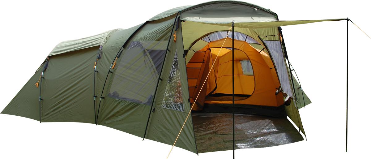 Палатка Сплав Discover 6, 6-местная, цвет: зеленый