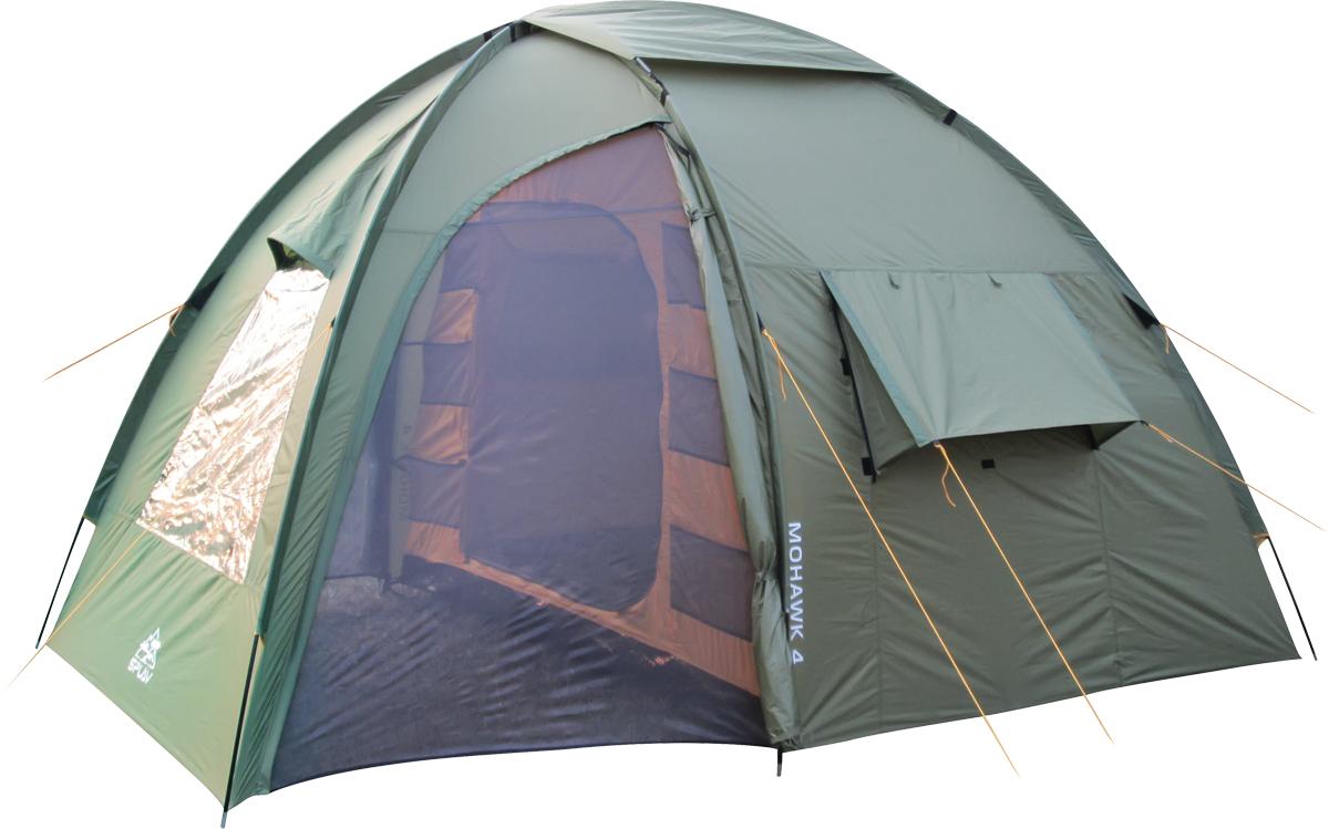 Палатка Сплав Mohawk 4, 4-местная, цвет: зеленый