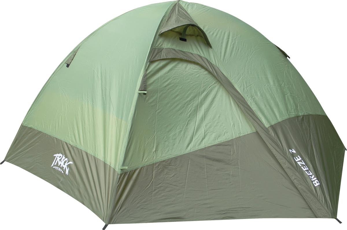 Палатка Track Breeze 2, 2-местная, цвет: зеленый