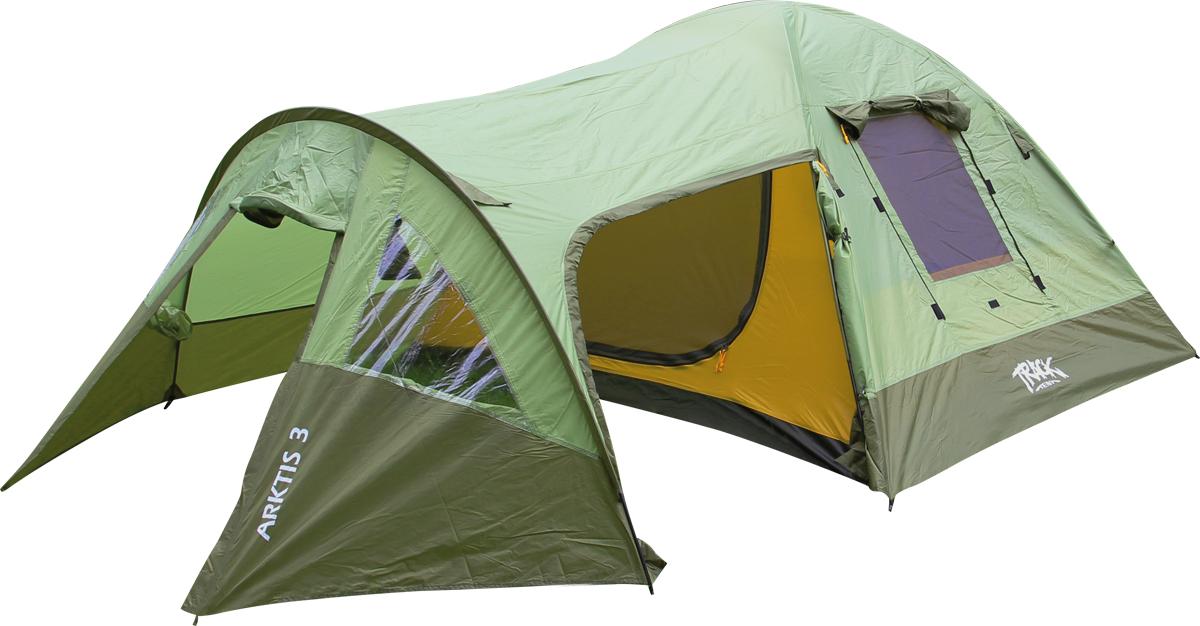 Палатка Track Arktis 3, 3-местная, цвет: зеленый