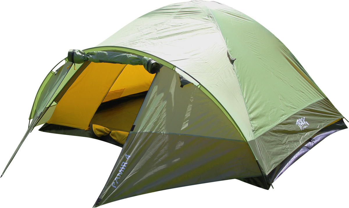 Палатка Track Pamir 4, 4-местная, цвет: зеленый