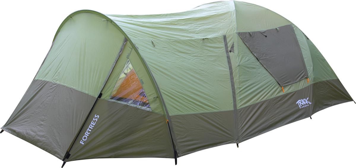 Палатка Track Fortress, 4-местная, цвет: зеленый