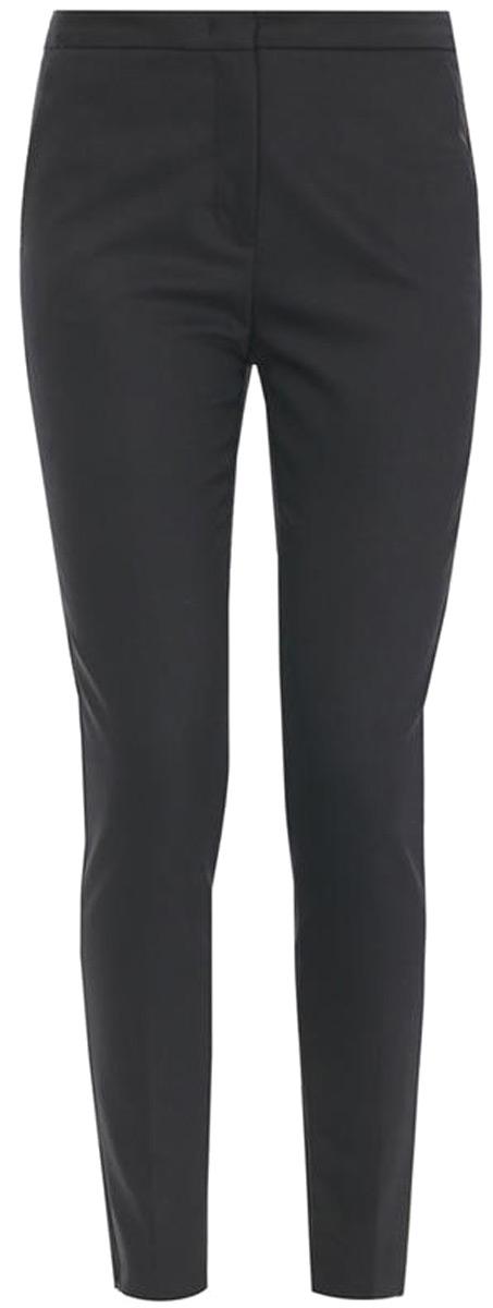 Брюки женские United Colors of Benetton, цвет: черный. 4XJ6556S3_100. Размер 46 (48)4XJ6556S3_100Брюки от United Colors of Benetton со стрелками выполнены из высококачественного хлопкового материала. Модель в поясе застегивается на брючный крючок и имеет ширинку на молнии и шлевки для ремня. По бокам брюки дополнены втачными карманами со скошенными краями, сзади – прорезными карманами.