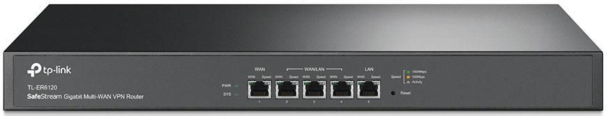 TP-LINK SafeStream TL-ER6120 маршрутизатор (2 порта) маршрутизатор tp link tl er5120 5 port gigabit multi wan load balance router