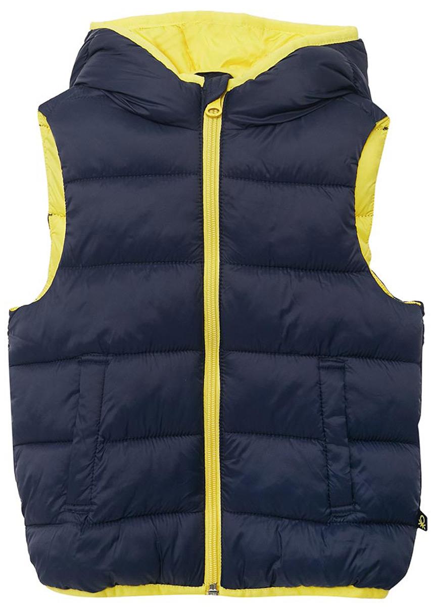 Жилет утепленный для мальчика United Colors of Benetton, цвет: темно-синий. 2BA25G190_13C. Размер 150 сумка tommy hilfiger am0am00806 002 black