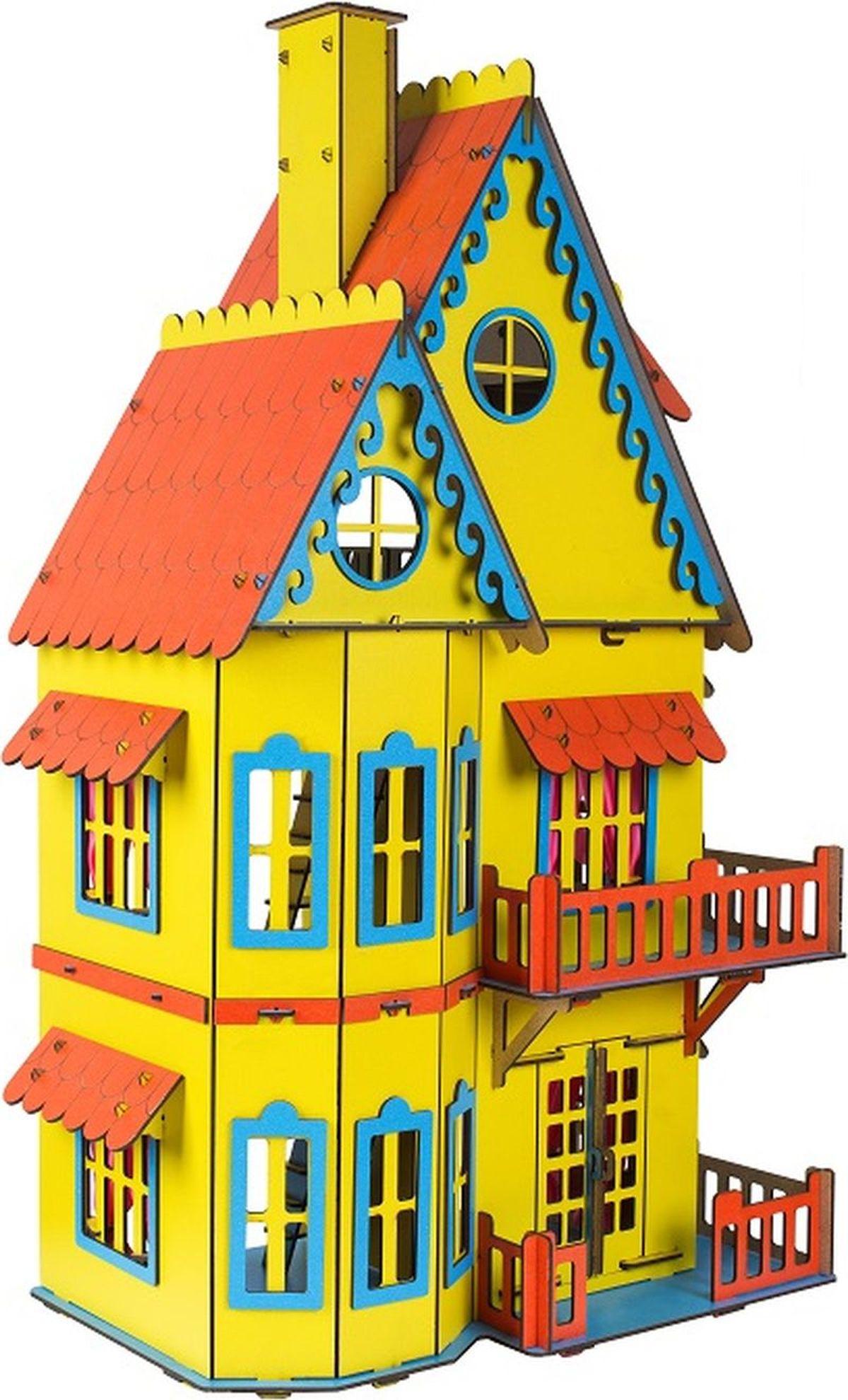 Большой слон Деревянный конструктор Кукольный домик цвет желтый деревянный конструктор кукольный домик