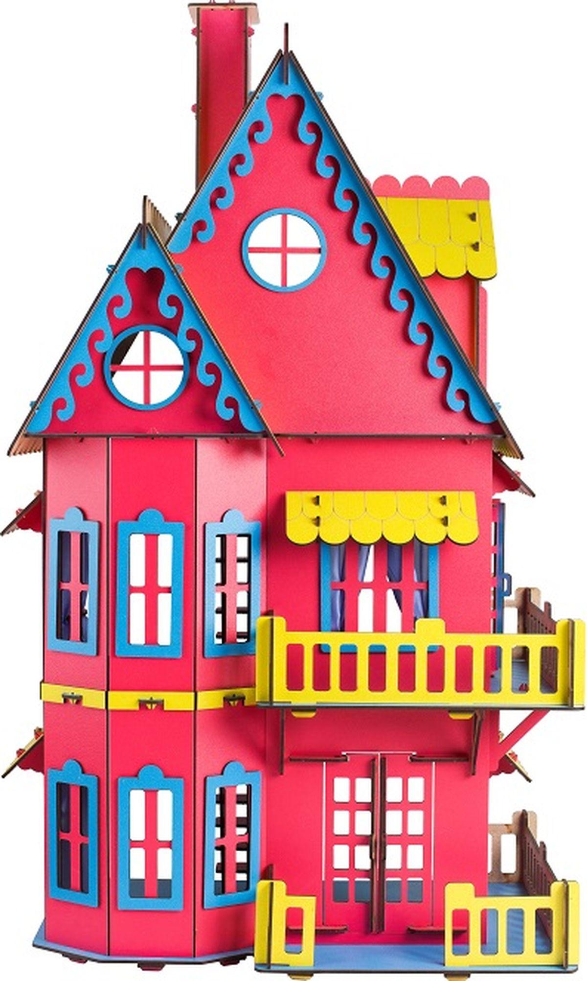 Большой слон Конструктор Кукольный домик цвет розовый фигурки игрушки большой слон кукольный театр красная шапочка
