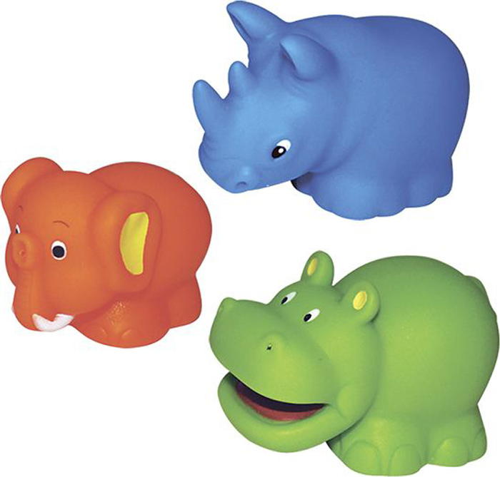 ПОМА Набор игрушек для ванной Сафари 3 шт жирафики набор игрушек для ванной лошадка и свинка
