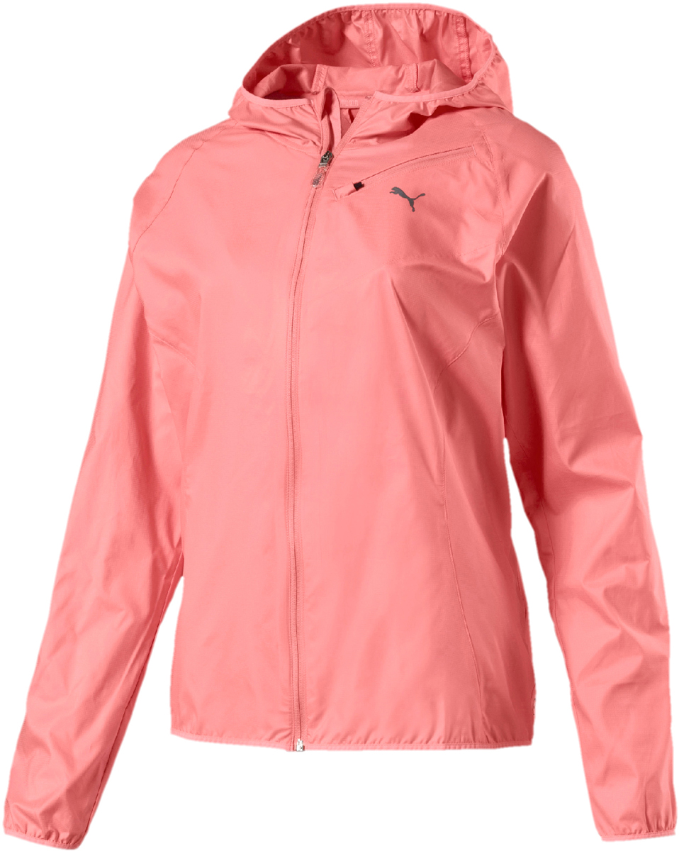 Ветровка женская Puma Core-Run Hooded Jkt W, цвет: коралловый. 51504108. Размер L (46/48)