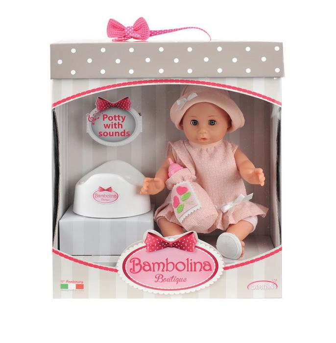 Dimian Игровой набор с куклой Bambolina Boutique bambolina игровой набор с куклой пупс в ванночке