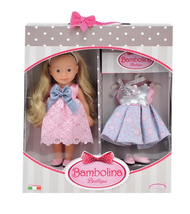 Dimian Кукла Bambolina Boutique Маленькая модница кукла маленькая леди в платье 1168583