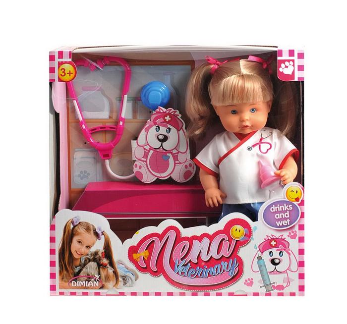 Dimian Игровой набор с куклой Baby Nena Ветеринар