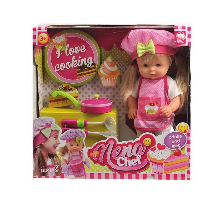 Dimian Игровой набор с куклой Baby Nena Шеф повар
