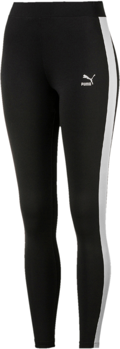 Леггинсы женские Puma Classics Logo EP T7 Legging, цвет: черный. 57550001. Размер L (46/48) with yzf logo motorbike frame slider motorcycle frame crash pads engine case sliders protector for yamaha yzf1000 r1 2015 2016