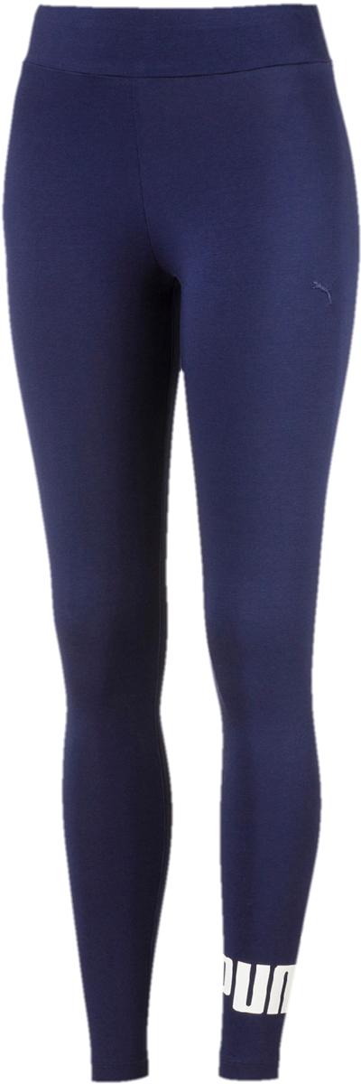 Леггинсы женские Puma ESS No.1 Leggings W, цвет: синий. 83842208. Размер L (46/48)