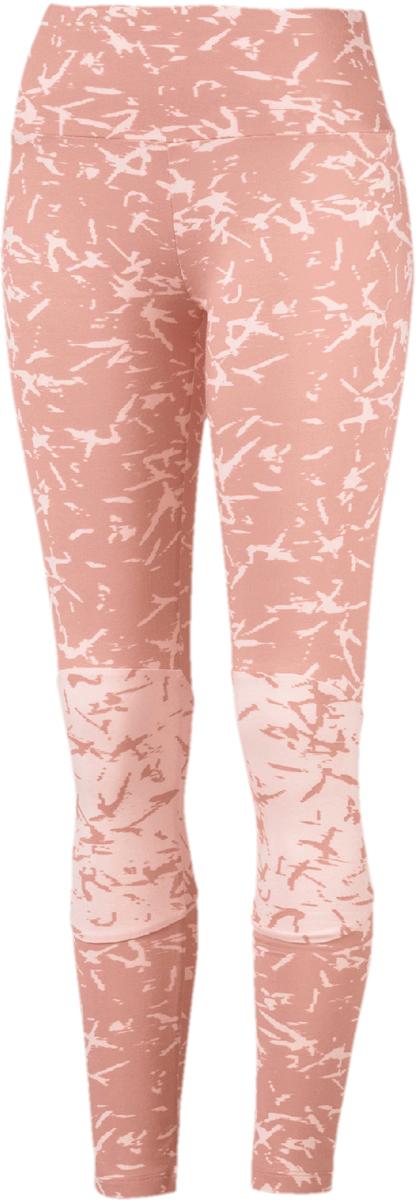 Леггинсы женские Puma Fusion Legging, цвет: персиковый. 85013131. Размер M (44/46)