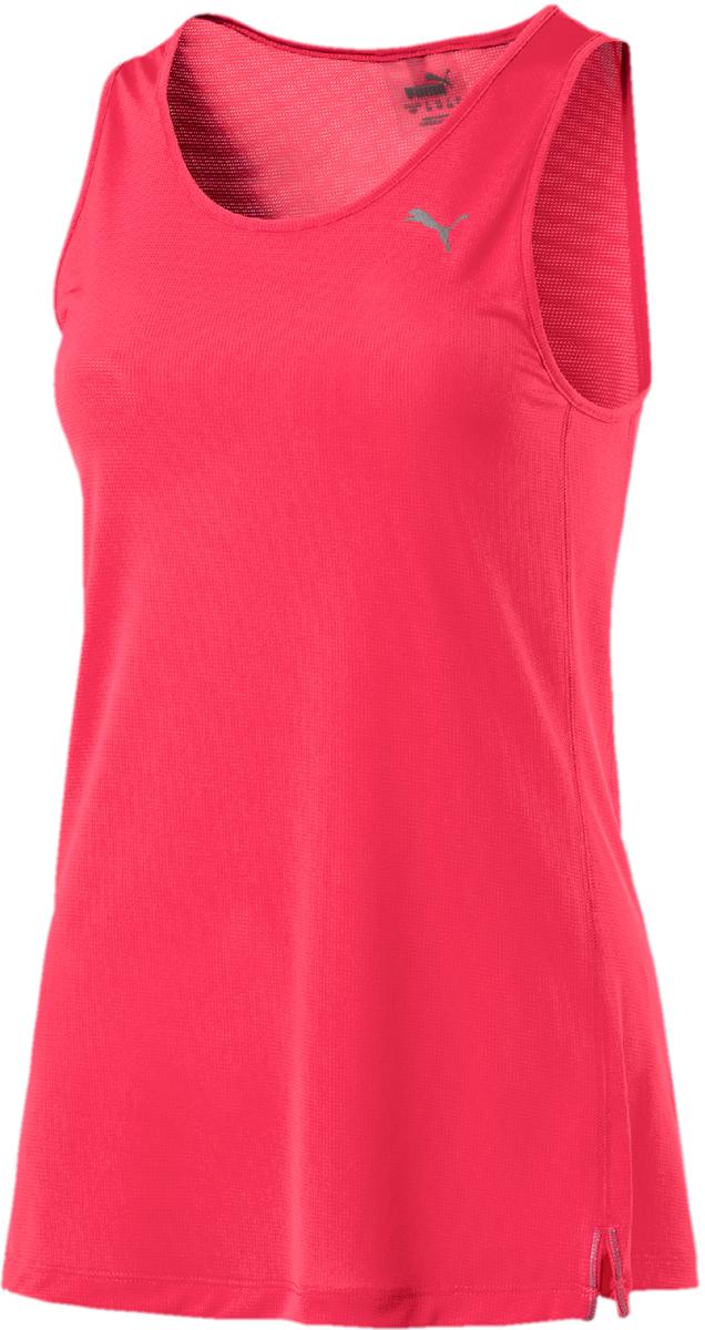 Майка женская Puma Core-Run Tank, цвет: розовый. 51646502. Размер M (44/46)51646502Удлиненная спортивная майка Puma изготовлена с использованием высокофункциональной технологии dryCELL, которая отводит влагу и гарантирует комфорт во время активных тренировок и занятий спортом. Мягкий материал изделия на органической основе прекрасно впитывает пот и обеспечивает комфорт во время интенсивной тренировки. Разрезы спереди создают полную свободу движений. Логотип бренда и другие детали из светоотражающего материала позаботятся о вашей безопасности в темное время суток. Петля шнура изменяемой длины, которым отделан ворот, также выполнена из светоотражающего материала. Плоские швы не натирают кожу и обеспечивают полный комфорт.