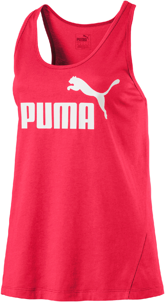 Майка женская Puma ESS Sporty No.1 Tank W, цвет: розовый. 59014318. Размер L (46/48) топ бра женский puma iconic racer back bra 1 цвет белый 90688903 размер l 46 48