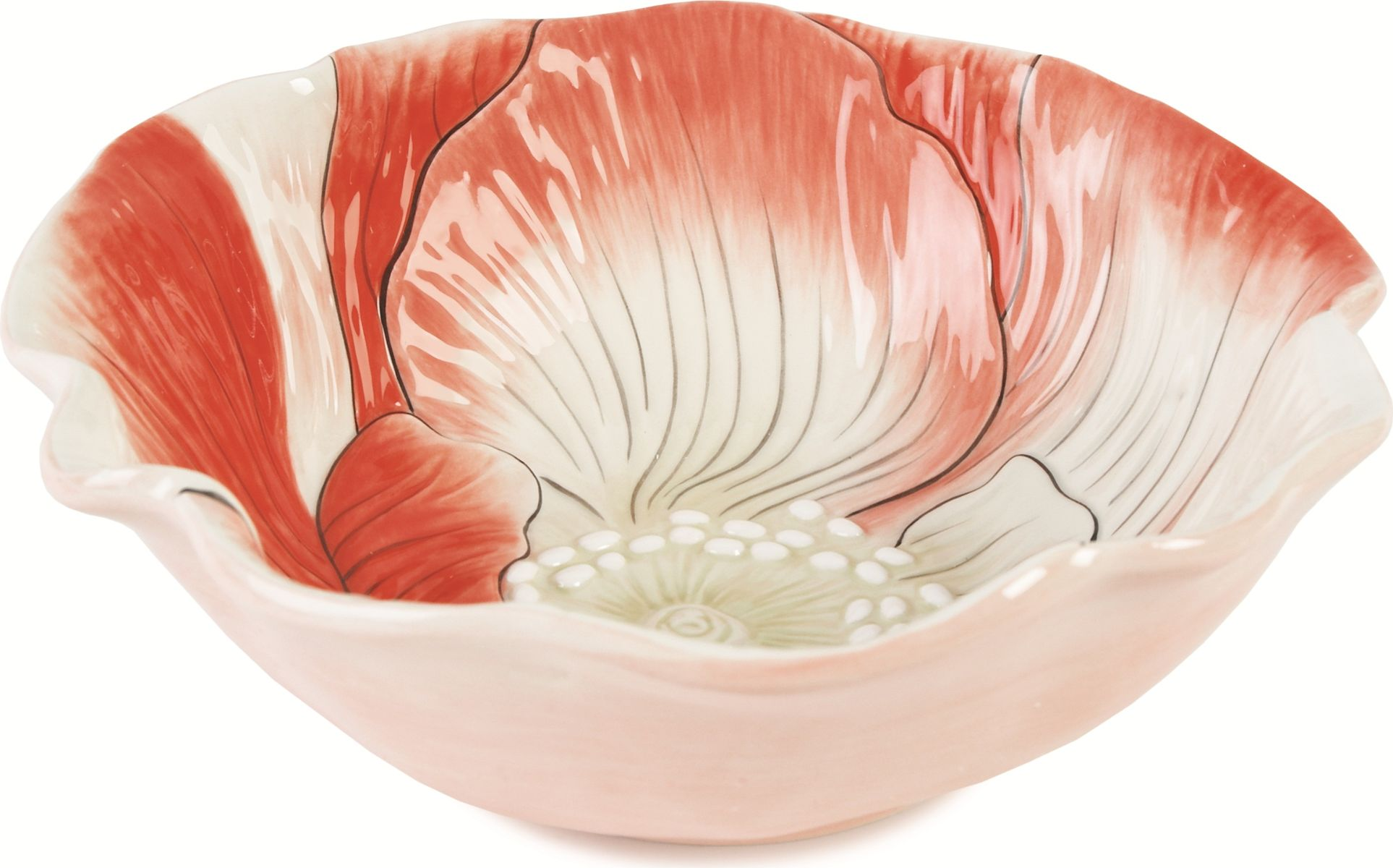Блюдо для сервировки малое. Материал - керамика, расписанная вручную.Рекомендуется бережная ручная мойка без использования абразивных моющих средств.