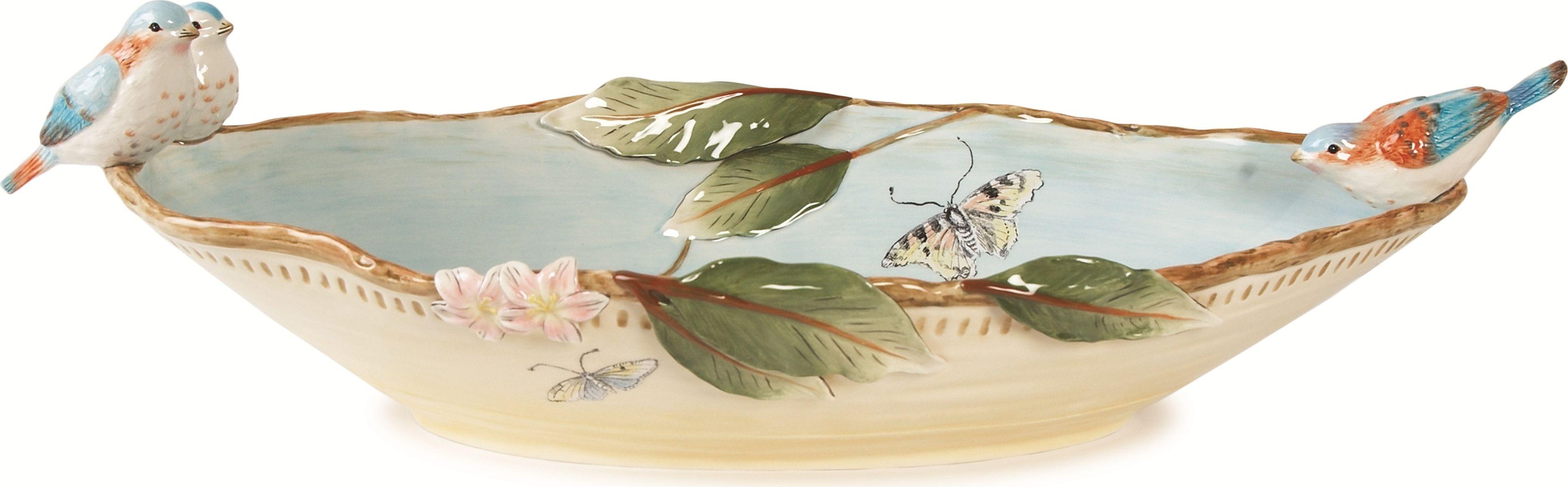 Блюдо для сервировки Fitz and Floyd Тулуза, 58 х 26 см20-482Блюдо для сервировки 58смМатериал - керамика, расписанная вручнуюРекомендуется бережная ручная мойка с использованием без абразивных моющих средств.Подарочная упаковка