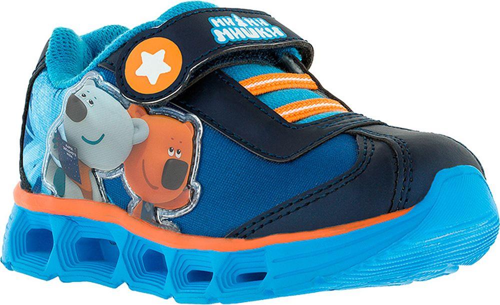 Кроссовки для мальчика Kakadu Ми-ми-мишки, цвет: синие. 7161B. Размер 257161BПодсводник, Облегченная подошва, Съемная стелька, Светодиоды, Анатомическая стелька, Хлопковая подкладка