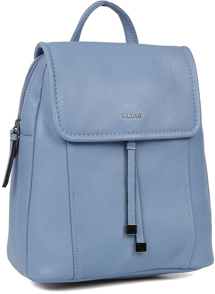Молодежный женский рюкзак Palio выполнен из натуральной кожи, которая имеет мягкую и приятную на ощупь фактуру. Невероятно женственный голубой оттенок дополнит любую цветовую гамму, поэтому модель станет универсальным аксессуаром, подходящим под различные современные образы. Дизайнерские геометрические полосы, стильные кожаные поводки и удобная форма - все это превращает изделие в ультрамодный рюкзак, который подчеркнет ваш уникальный стиль. Сумка-рюкзак имеет одно внутренние отделение, которые закрывается на прочную молнию и магнитный замок. Вы сможете разместить свои мелкие вещи и сотовый телефон с помощью карманов, один из которых закрывается на молнию. Вместительный объем позволит Вам носить с собой любимые гаджеты и важные документы формата А4, поэтому рюкзак станет прекрасным дополнением как классического look-а, так и яркого молодежного образа.