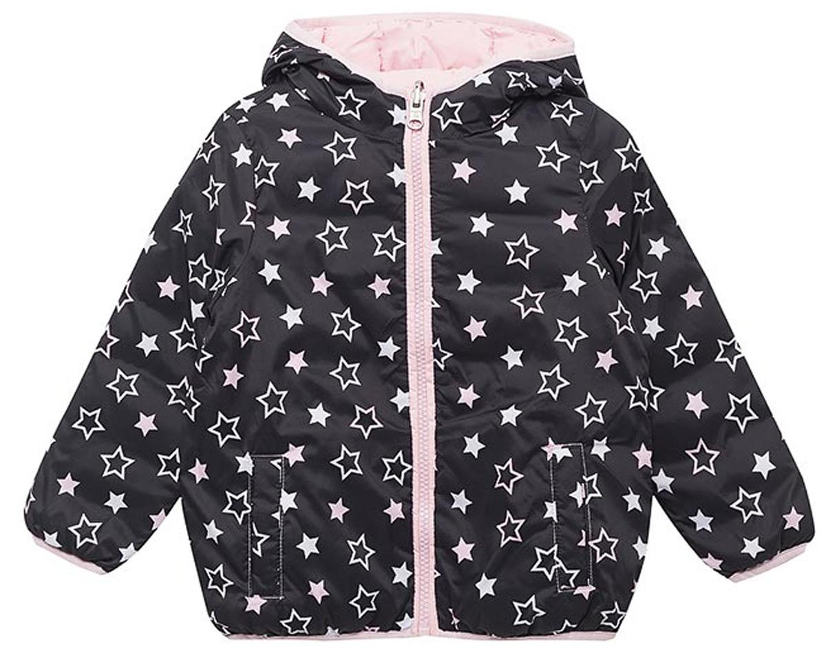 Куртка для девочек United Colors of Benetton, цвет: черный, розовый. 2XD853BS0_905. Размер 1202XD853BS0_905Двустороння утепленная куртка от United Colors of Benetton выполнена из высококачественного полиэстера. Модель с длинными рукавами и капюшоном застегивается на молнию, по бокам дополнена втачными карманами.